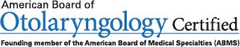 Otolaryngology certification