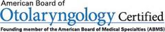 Otolaryngology certification